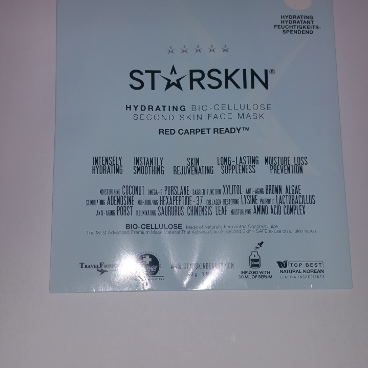 Starskin Hydrating Bio Cellulose second skin face mask review