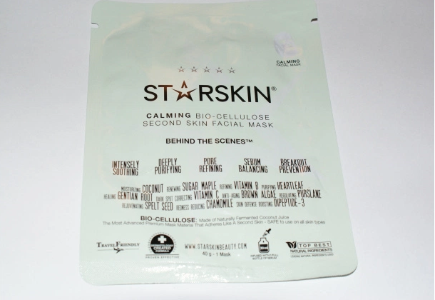 Starskin Calming Bio Celulose Second Skin Facial Mask