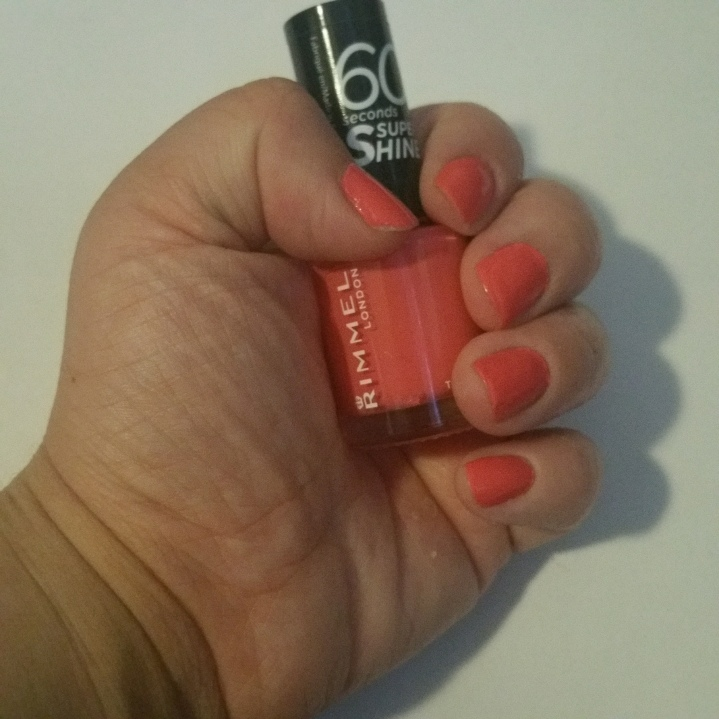 Thumbs nails of the month: Rimmel 407 Hot Tropicana