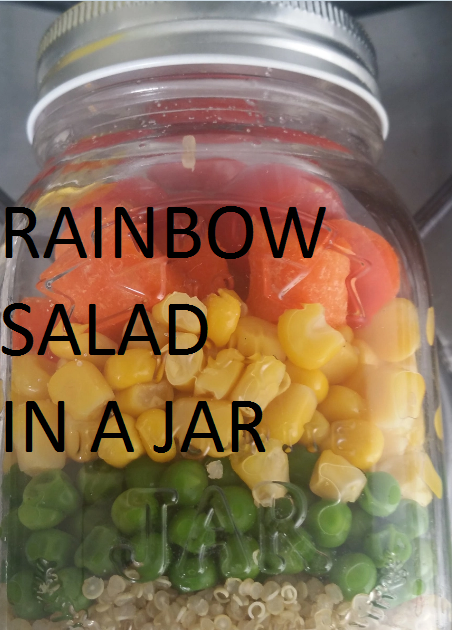 Rainbow salad in a Jar