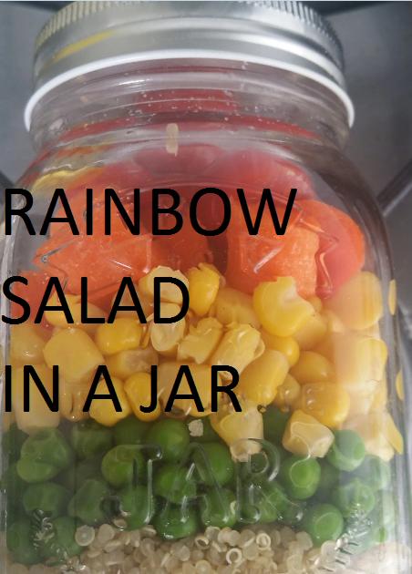 Rainbow salad in aJar