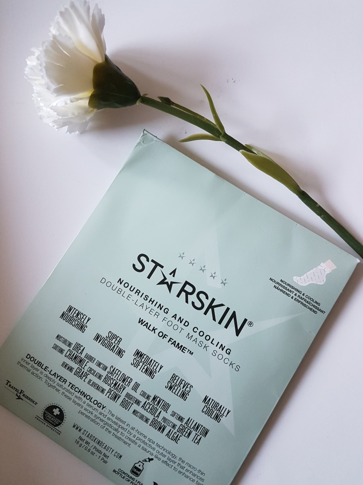 Thumbs Review: Starskin Nourishing and Cooling Double Layer Foot Mask Socks